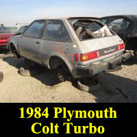 Junkyard 1984 Plymouth Colt GTS Turbo