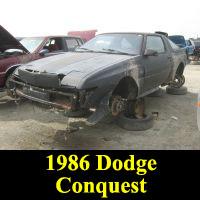 Junkyard 1986 Dodge Conquest