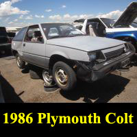 Junkyard 1986 Plymouth Colt