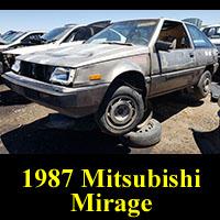 Junkyard 1987 Mitsubishi Mirage