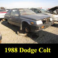 Junkyard 1988 Dodge Colt