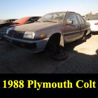 Junkyard 1988 Plymouth Colt
