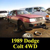 Junkyard 1988 Dodge Colt 4WD