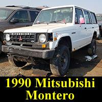 1990 Mitsubishi Montero in junkyard