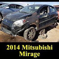 Junkyard 2014 Mitsubishi Mirage