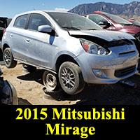 Junkyard 2015 Mitsubishi Mirage