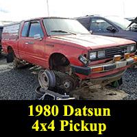 Junkyard 1980 Datsun 4x4 pickup