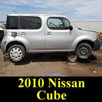 2010 Nissan Cube in junkyard
