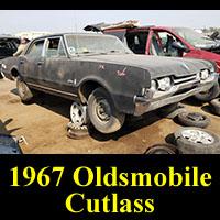 1967 Olds Cutlass in junkyard