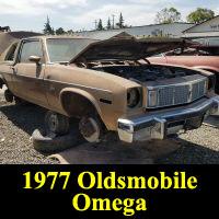 Junkyard 1977 Oldsmobile Omega Brougham Coupe