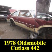 Junkyard 1978 Oldsmobile Cutlass 442