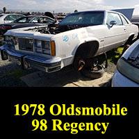 Junkyard 1978 Oldsmobile Ninety-Eight Regency Coupe