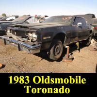 Junkyard 1983 Oldsmobile Toronado Brougham Coupe