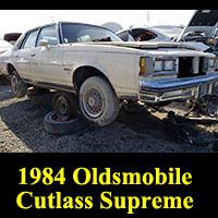 Junkyard 1984 Oldsmobile Cutlass Supreme Brougham