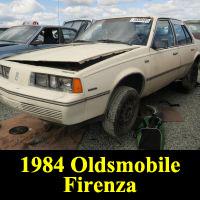 Junkyard 1984 Oldsmobile Firenza sedan