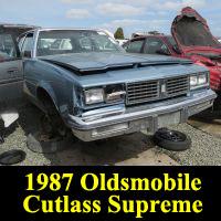 Junkyard 1987 Oldsmobile Cutlass Supreme