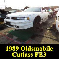 Junkyard 1989 Oldsmobile Cutlass Supreme FE3