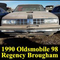 Junkyard 1990 Oldsmobile 98 Regency Brougham Sedan