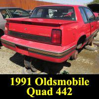Junkyard 1991 Oldsmobile Cutlass Calais Quad 442