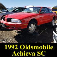 Junkyard 1992 Oldsmobile Achieva SC
