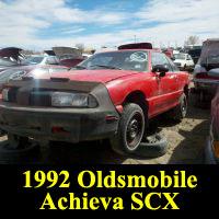 Junkyard 1992 Oldsmobile Achieva SCX