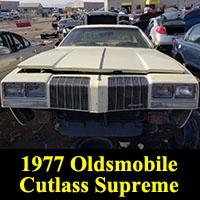 Junkyard 1977 Oldsmobile Cutlass Supreme