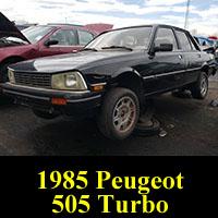 Junkyard 1985 Peugeot 505 Turbo