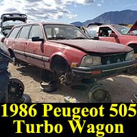 Junkyard 1986 Peugeot 505 Turbo Wagon