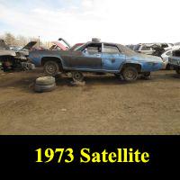 Junkyard 1973 Plymouth Satellite