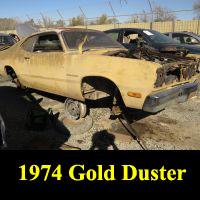 Junkyard 1974 Plymouth Gold Duster