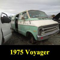 Junkyard 1975 Plymouth Voyager Van