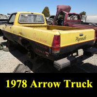 Junkyard 1979 Plymouth Arrow Pickup