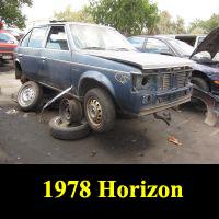 Junkyard 1978 Plymouth Horizon