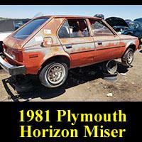 Junkyard 1981 Plymouth Horizon Miser