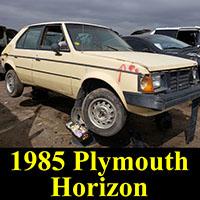 Junkyard 1985 Plymouth Horizon