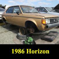 Junkyard 1986 Plymouth Horizon