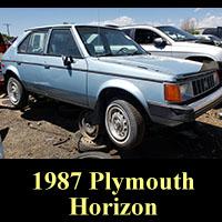 Junkyard 1987 Plymouth Horizon