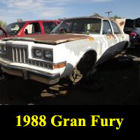 Junkyard 1988 Plymouth Gran Fury