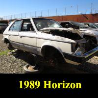 Junkyard 1989 Plymouth Horizon