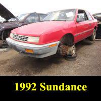 Junkyard 1992 Plymouth Sundance