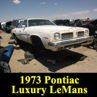 Junkyard 1973 Pontiac Luxury LeMans
