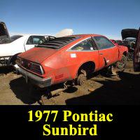 Junkyard 1977 Pontiac Sunbird