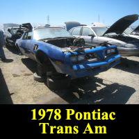 Junkyard 1978 Pontiac Firebird Trans Am