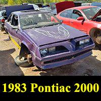 Junkyard 1983 Pontiac 2000