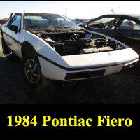 Junkyard 1984 Pontiac Fiero 2M4