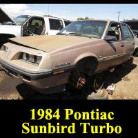 Junkyard 1984 Pontiac Sunbird Turbo