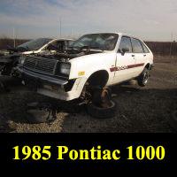 Junkyard 1985 Pontiac 1000
