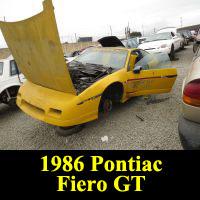 Junkyard 1986 Pontiac Fiero