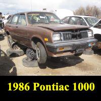 Junkyard 1986 Pontiac 1000