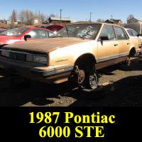 Junkyard 1987 Pontiac 6000 STE